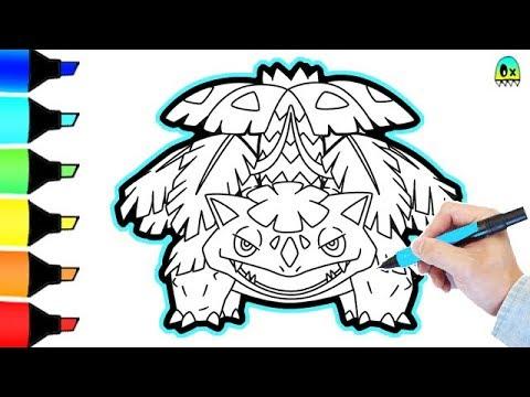 Mega Venusaur Pokemon  Coloring Pages I Fun Colouring for kids