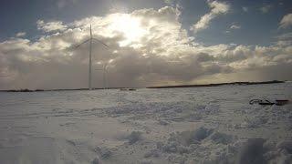 Neo 2 6qm Snowkite in Sonne und Sturm
