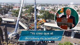 El presidente Andrés Manuel López Obrador aseguró que el dictamen que dio a conoce la empresa DNV y el Colegio de Ingenieros Civiles de México sobre la Línea 12 del Sistema de Transporte Colectivo Metro