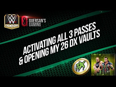 Activating All 3 Passes & Opening my 26x DX Vaults / WWE Champions ⚔️
