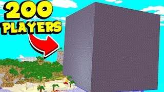 I TRAPPED 200 MINECRAFT PLAYERS INSIDE A CUBE OF BEDROCK FOR 1 WEEK
