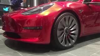 Inside the Tesla Gigafactory Tour and Trip, Model 3 Close up 7-29-2016
