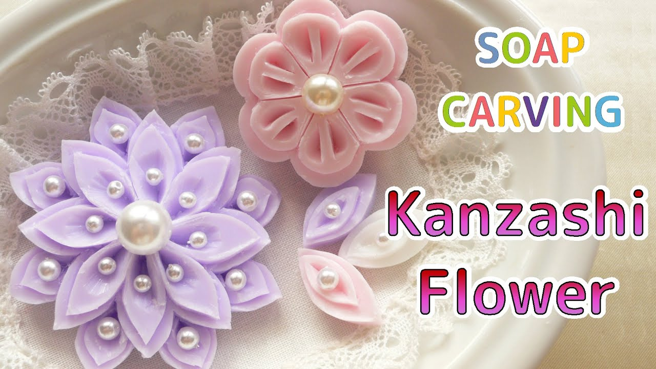 Soap carving easy kanzashi flowers and petals how to