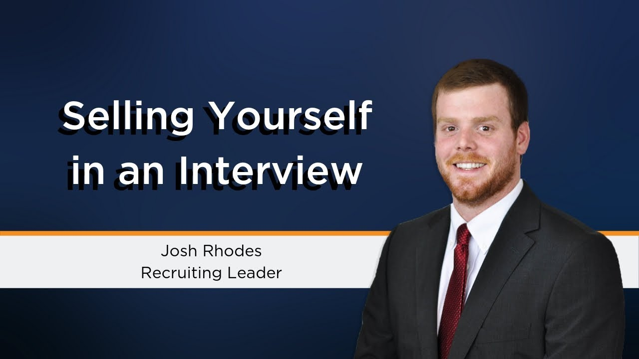 dont be afraid to sell yourself in an interview interview tips