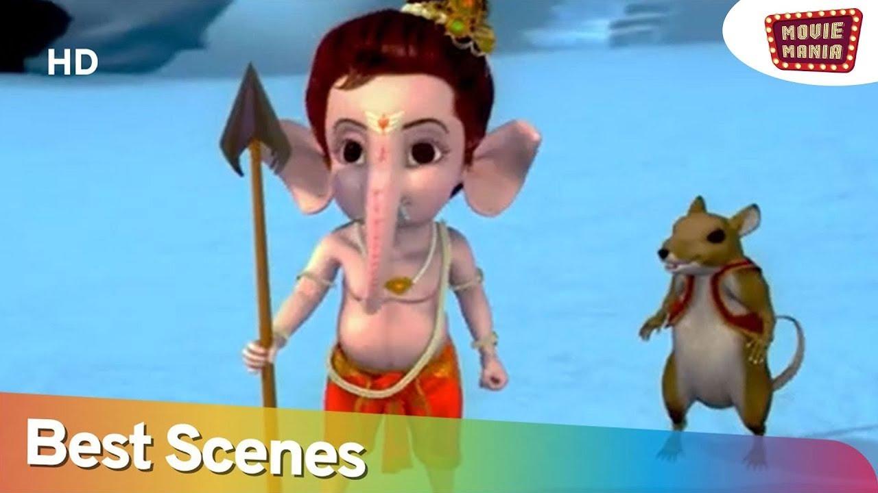 बाल गणेश जी के मस्ती भरे दृश्य   Bal Ganesh Movie Best Scenes - 01   Movie Mania