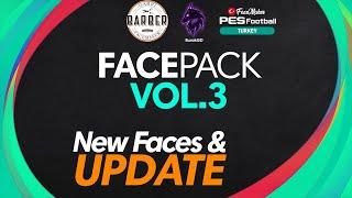 PES 2021 Facepack VOL 3 New Faces Update