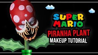 SUPER MARIO - Piranha Plant - Makeup Tutorial (deutsch) 🍄 #spooktober