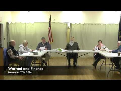 Warrant and Finance - 11-17-2016