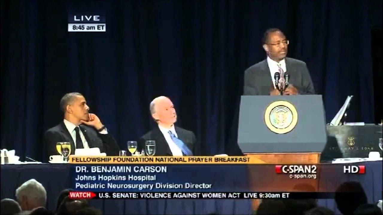 Dr Ben Carson Prayer Breakfast Speech With President Obama FULL