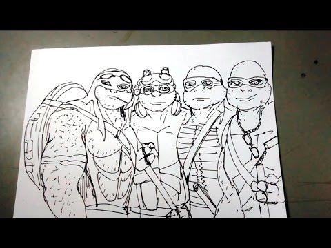Aprende a dibujar las Tortugas Ninja paso a paso - YouTube