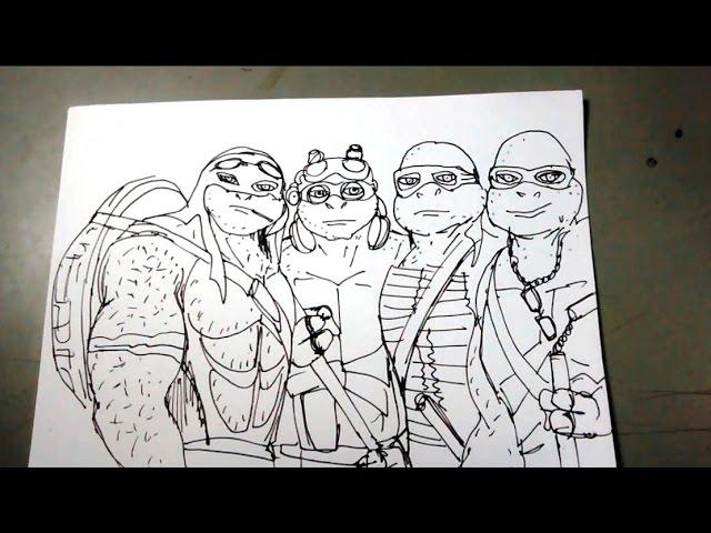 Aprende A Dibujar Las Tortugas Ninja Paso A Paso Youtube