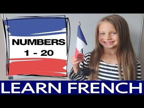 French Numbers 1-20 for Kids