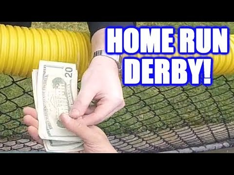 PAYING TO REPLACE BROKEN GLASS IN A HOME RUN DERBY!   On-Season Softball Series
