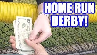 PAYING TO REPLACE BROKEN GLASS IN A HOME RUN DERBY  On-Season Softball Series