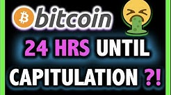 24 HOURS!! BITCOIN COULD CAPITULATE?!! 🥵Crypto Analysis TA Today & BTC Cryptocurrency Price News Now