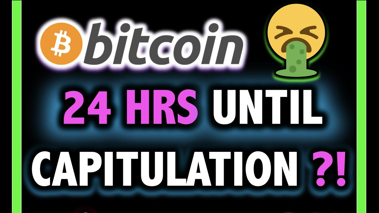 24 HOURS!! BITCOIN COULD CAPITULATE?!! ?Crypto Analysis TA Today & BTC Cryptocurrency Price News