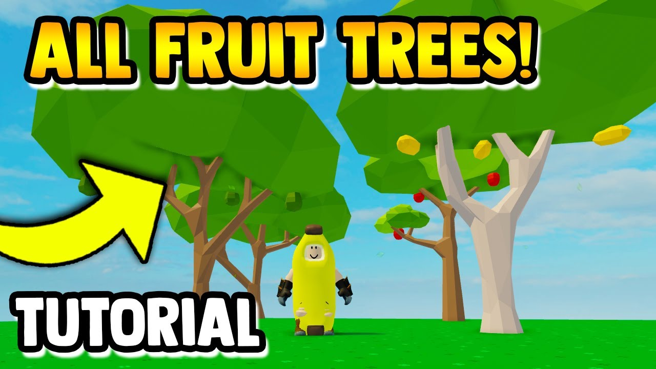 Tree Oak Roblox How To Get All Fruit Trees Fast Skyblock Roblox Youtube