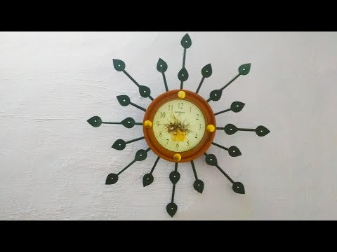 Diy wall clock decoration / wall clock decoration idea with paper / wall decor idea / Preeti Chauhan