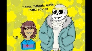 Speed Paint - Sans and Frisk