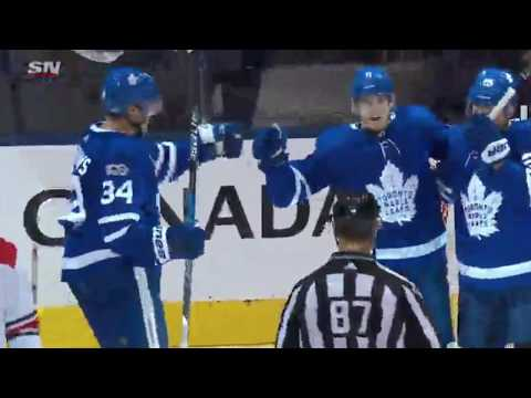 Zach Hyman Scores Toronto Maple Leafs vs Carolina Hurricanes Oct 26 2017