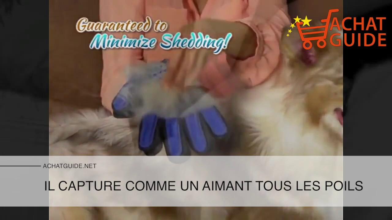 Gant ramasse poils pour chien et chat youtube - Gant pour enlever poils chat ...