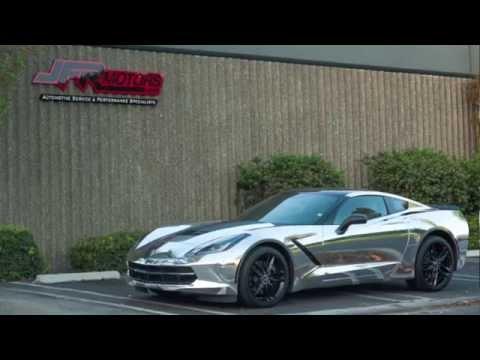 Chrome C7 Corvette Vinyl Wrap By Jfr Motors Youtube