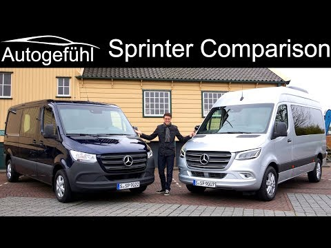 Mercedes Sprinter FULL REVIEW all-new 2019 Tourer vs Box wagon comparison - Autogefühl