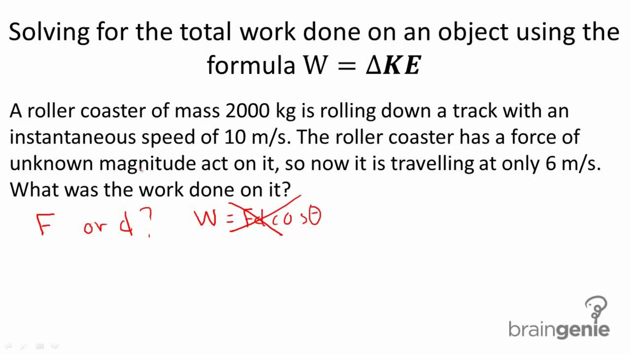 Calculating the Amount of Work Done by Forces