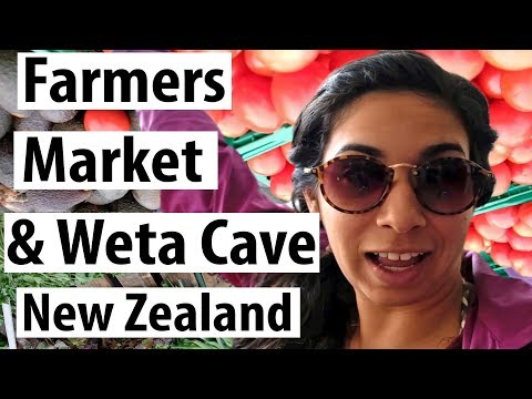 New Zealand Farmers market & Weta