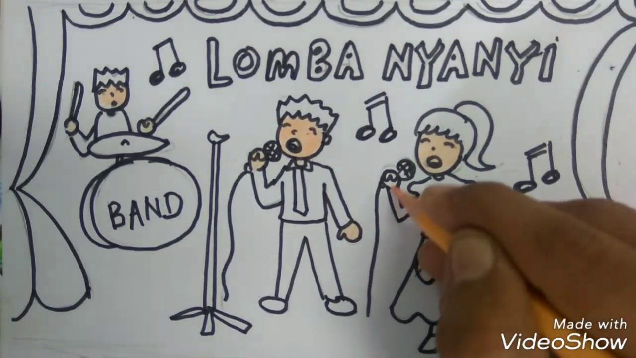 Cara Menggambar Lomba Nyanyi 17 Agustus Youtube