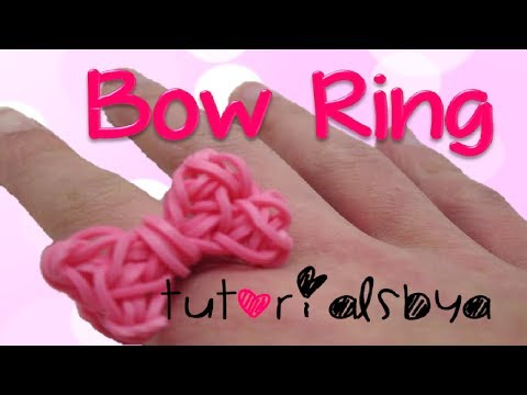 {OLD & FAST TUTORIAL} Bow Ring Rainbow Loom Tutorial Travel Video