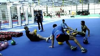 Функциональная тренировка с гирями