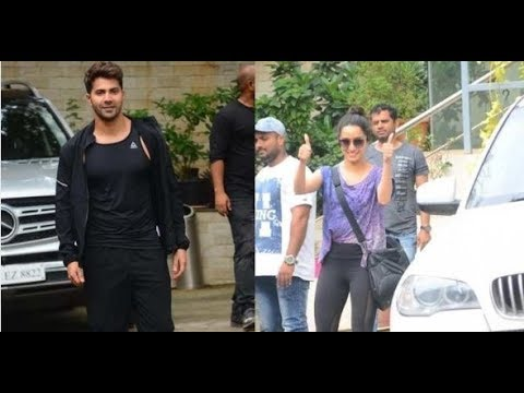 SPOTTED: Varun Dhawan and Shraddha Kapoor as they step out after 'Street Dancer 3D' dance rehearsals
