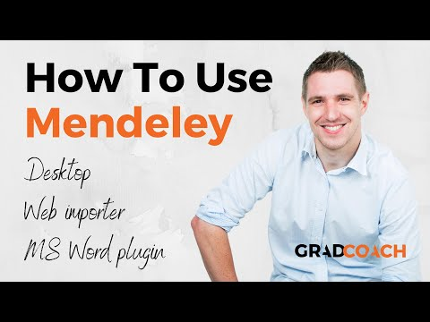 How to use Mendeley Desktop, Web Importer & MS Word Plugin (Full Tutorial)