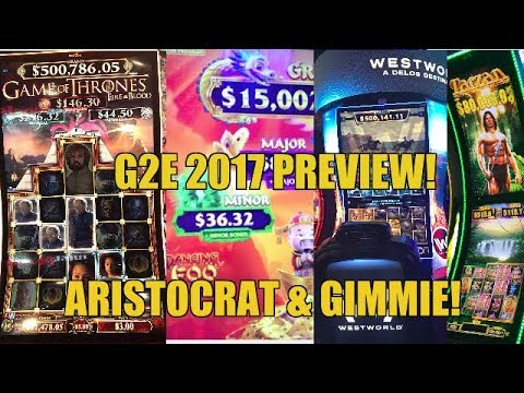 ♦️G2E 2017♦️ARISTOCRAT & GIMMIE GAMES PREVIEW