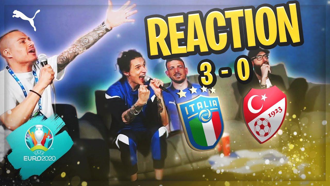'EURO 2020' REACTION TURCHIA - ITALIA DA CASA AZZURRI!