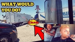 Truck Accident in TA Truck Stop Parking Lot | What  Would You do If You Were at Fault| Female Truck