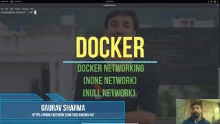 30. Docker (in Hindi) : Docker Networking (Null Network, None Network)