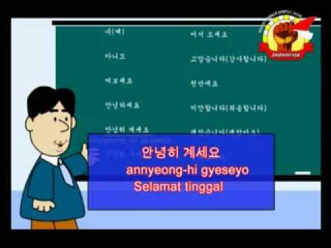 belajar bahasa korea = indonesia
