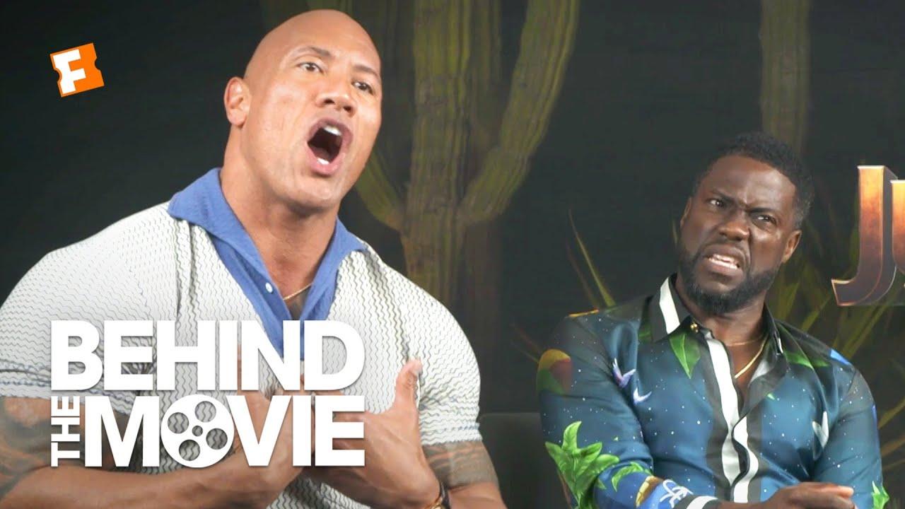 Dwayne Johnson Kevin Hart Talk Body Swapping And Black Adam Jumanji The Next Level Interview