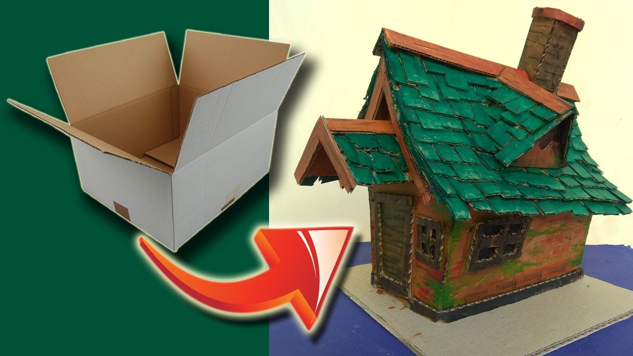 Miniature House Model To Build How To Make A Cardboard House With Recycled Materials