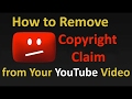 how to remove copyright claim in 30 secs || 2018 Working Trick