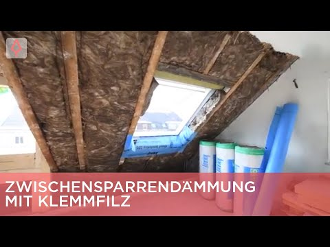 Zwischensparrendämmung mit Klemmfilz | Renovieren mit Elmar