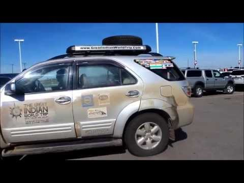 Great Indian World Trip visits Calgary Toyota Dealership