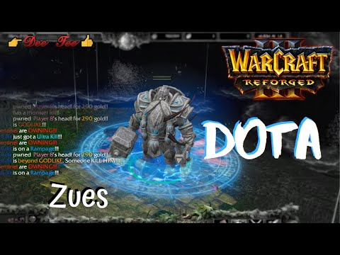 Warcraft 3 Reforged:  DOTA - Zeus (the Lord of Heaven) Skills !!!