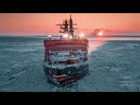 The Biggest Nuclear Powered Ice Breaker - Arktika - Beautiful Drone Footage