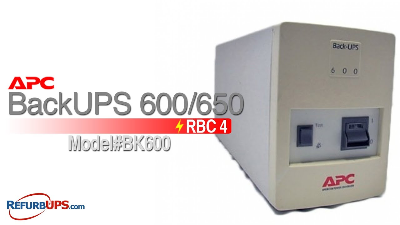 RBC4 Battery Replacement for APC BackUPS 600/650