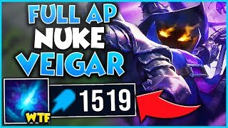 WHEN THE #1 XERATH WORLD PLAYS VEIGAR...(1500+ AP 1 VS. 9) - League of Legends