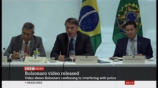 Brazil Court Releases Foul-mouthed Bolsonaro Video - Bbc News - 23rd May 2020