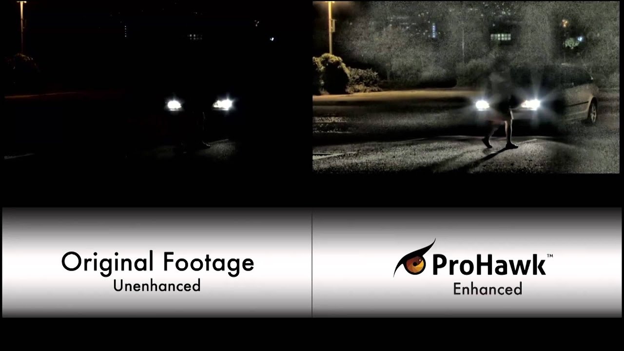 ProHawk real-time video enhancement during low light conditions